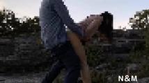 人妻露出調教(N&M)岩場での野外セ○クス