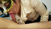 【取引先の経理課長がマゾ熟女だった件vol.07-1】着衣&即尺手マン立ちバック